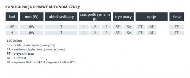Helios T5 - Rodzaje wykonania
