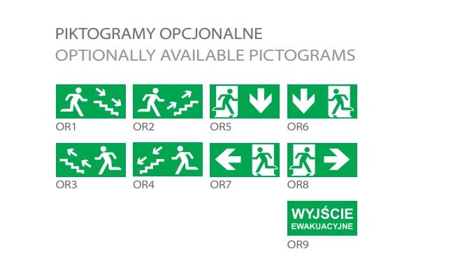 ORION T5 - Piktogramy