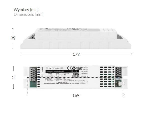 VIP LED - Wymiary