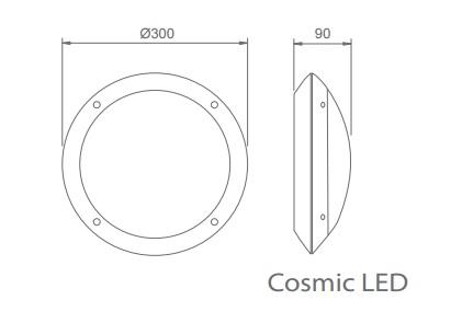 Plafoniera awaryjna COSMIC LED - Wymiary