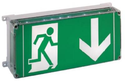 Przeciwwybuchowa oprawa ewakuacyjna LED EXIT do stref 1;21, 2;22