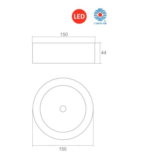 STARLET EXTERNAL LED Oprawa awaryjna CNBOP - Wymiary